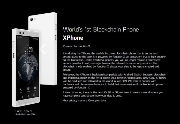 XPhone World's 1st Blockchain Phone has arrived at MWC19 Barcelona