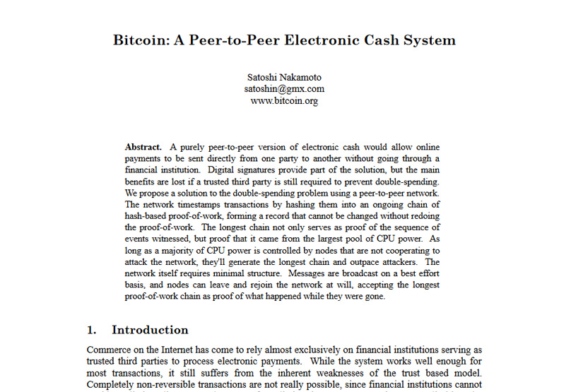 Bitcoin Whitepaper