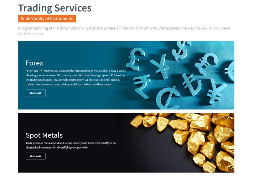FXTM Trading Instruments