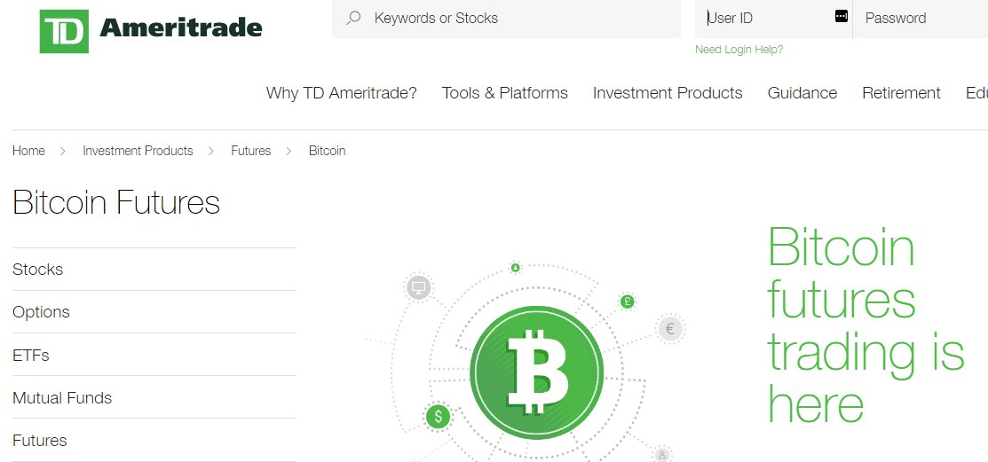 can you trade bitcoin on td ameritrade