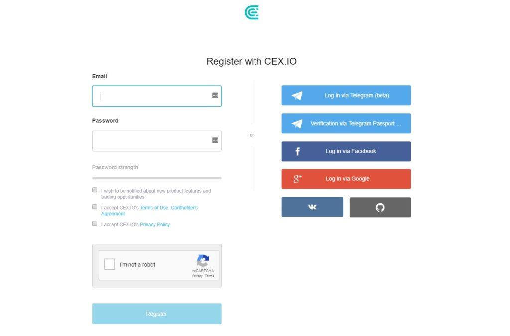 CEX.IO Register
