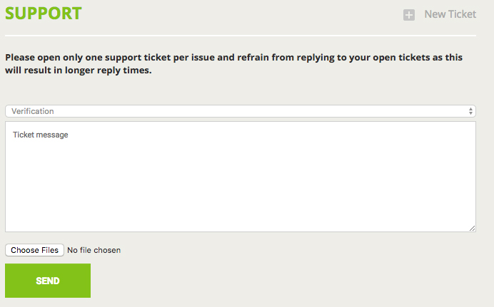 Bitstamp Ticket Support System