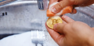 Please wash your hands not your Bitcoins