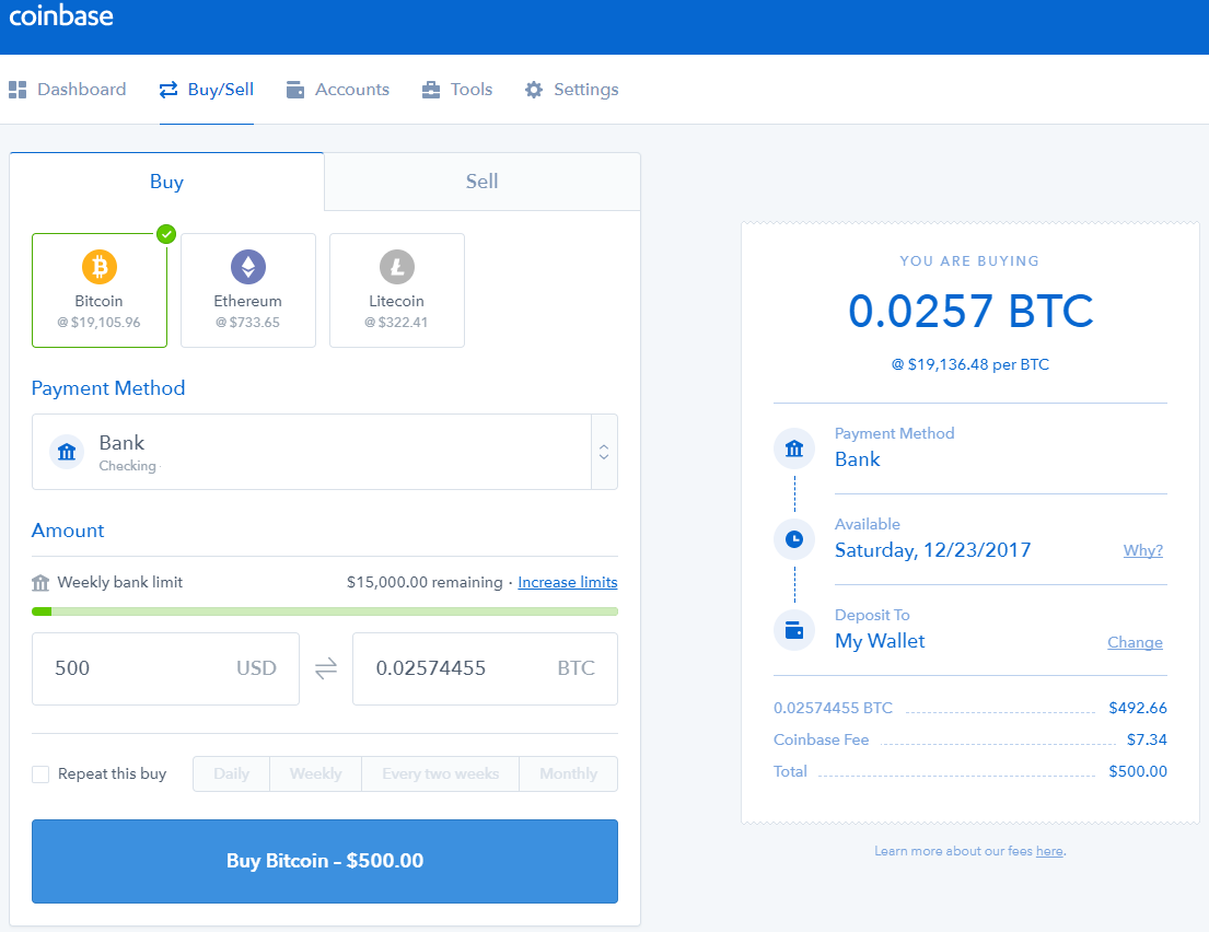 Buying Bitcoins On Stock Market Coinbase Ethereum Vault