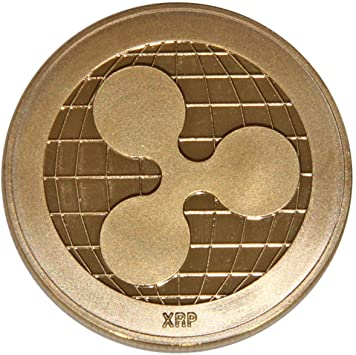 AmaMary Ripple Coin, Vintage Plated Ripple Coin XRP Coin ...