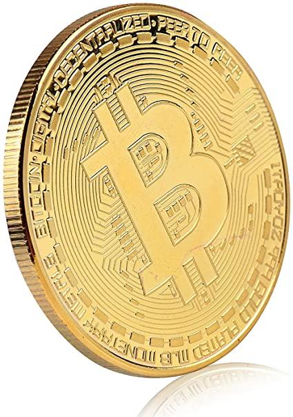 Amazon.com: Bitcoin Commemorative Coin 24K Gold Plated BTC Limited ...
